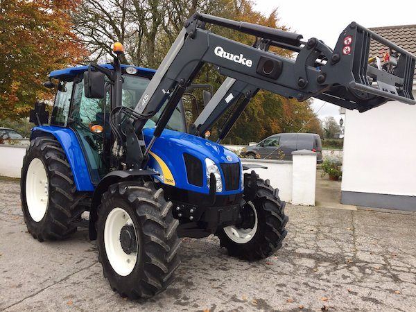 new holland t5060 side view tractor traders in west ireland front loader