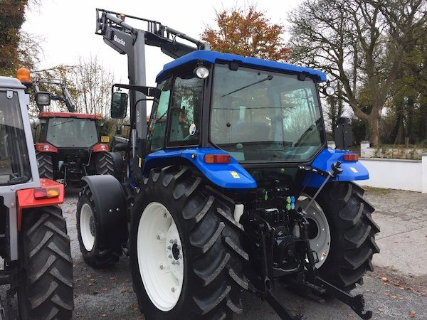 new holland t5060 rear side view front loader new and old tractors west ireland